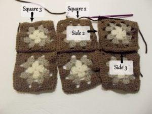 Granny Square Diaper and Wipes Organizer ~ Tutorial 5