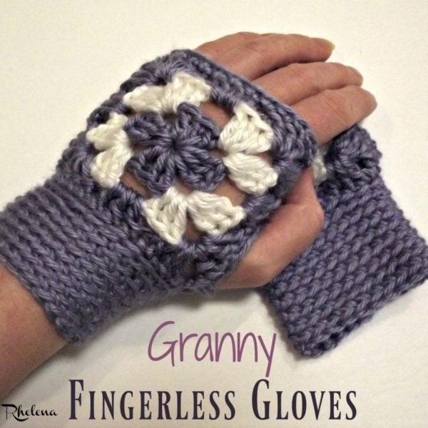 Granny Fingerless Gloves ~ FREE Crochet Pattern