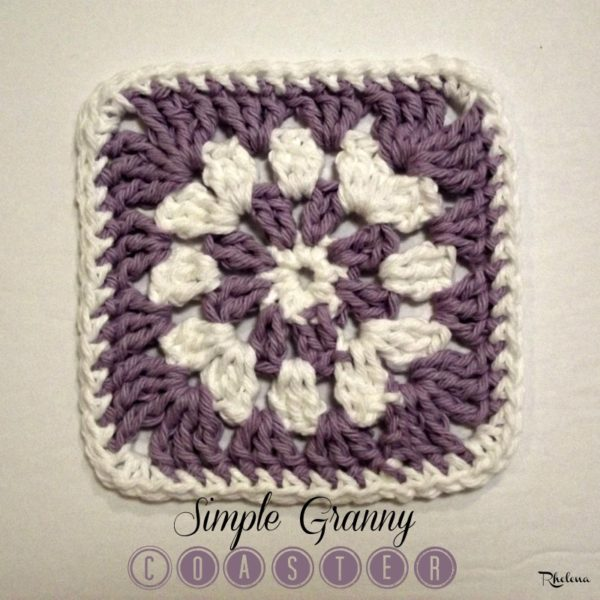 Simple Granny Coaster ~ FREE Crochet Pattern