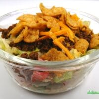 Taco Salad with Ground Beef and Tostitos