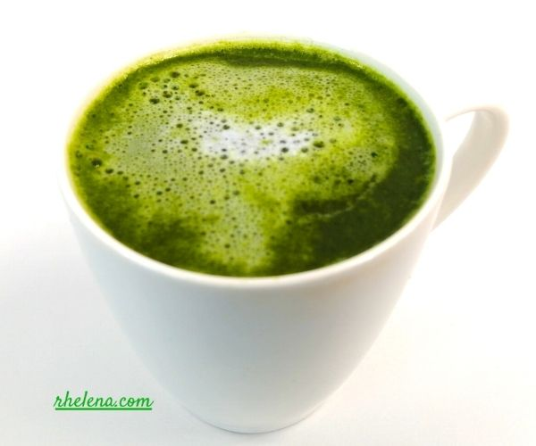 Matcha Green Tea Latte in a Coffee Cup