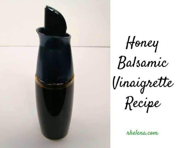 A bottle of honey balsamic vinaigrette.