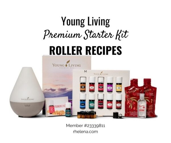 Young Living Starter Kit with essential oils, a diffuser and Ningxia Read.