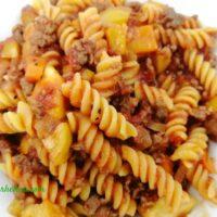 Ground Beef and Italian Sausage Pasta Dish